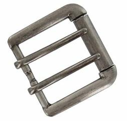 Antiqued Finish Double Prong Replacement Roller Belt Buckle,