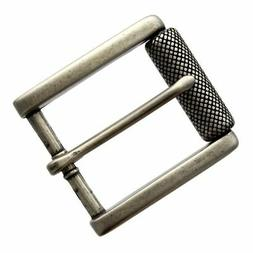 Antiqued Finish Single Prong Replacement Roller Belt Buckle,