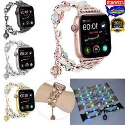 For Apple Watch Band 40 38mm Women Luminous Night Pearl Brac