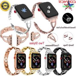 For Apple Watch Series 4 3 2 1 Women Stainless Steel Band St