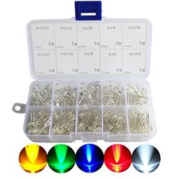 3mm and 5mm LED Lights Emitting Diodes Assortment Set Kit fo