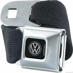 Authentic Black Volkswagen VW Logo Seat Belt Buckle Belt by
