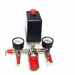 Automatic Pressure Switch Manifold Regulator Gauges Valves F