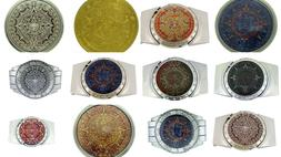 aztec calendar removable lighters belt mayan indian