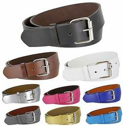 """B570 - Casual Jean Belt with Roller Buckle, 1 1/2"""" Wide - Di"""