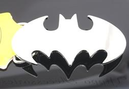 Batman Licensed Dark Knight Silver Chrome Metal Belt Buckle