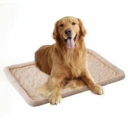 Beige Pet Dog Cat Bed Cushion Mat Pad  Kennel Crate Cozy War