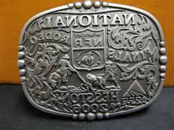 Hesston Belt Buckle 2006 National Finals Rodeo Youth Size Ne