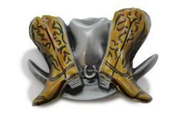 Belt Buckle Men Women Silver Metal Western Rodeo Beige Boots