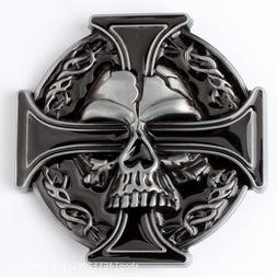 Belt buckle Skull Cross Men's Belt Buckles for women Cowboy