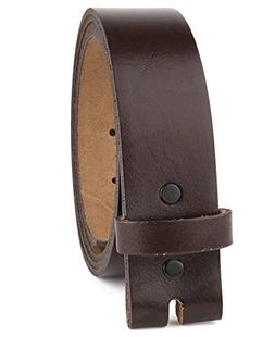 Belt for Buckles 100% Top Grain One Piece Leather, up to Siz