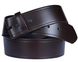 """Belt for Buckles 100% Top Grain One Piece Leather, 1.75"""" wid"""