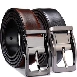 "Belts for Men Reversible Leather 1.25"" Waist Strap Fashion"