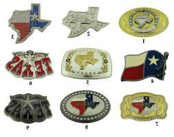 Big Texas Usa Belt Buckle Western Cowboy Rodeo Flag Silver G