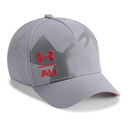Under Armour Boys Billboard Cap 3.0, Steel /Red, Youth Small