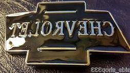 Black chrome Color Classic CHEVROLET logo metal Belt Buckle