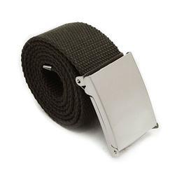 Black Cotton Belt Unisex Fabric Canvas Army Style Combat Web