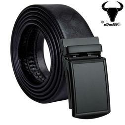 Black Formal Mens Belts Ratchet Leather Dress Straps Automat