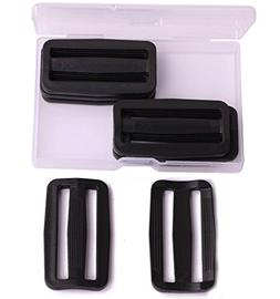 Shapenty 2 Inch Black Plastic Tri-glide Slides Button Adjust