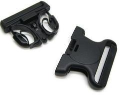 "SAFARILAND Black TRIPLE LOCKING Belt Buckle fits 2.25"" Duty"