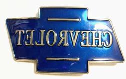 Blue chrome Color Classic CHEVROLET logo metal Belt Buckle g