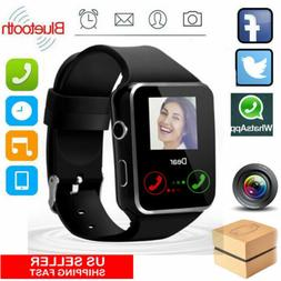Bluetooth Smart Watch Unlocked Phone w/ Camera for Women Men