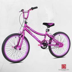 BMX Bike Purple 20 Inch Single Speed Steel Frame Kid Bicycle