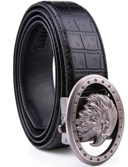 Bonded Leather Mens Ratchet Belt Belts For Men With Adjustab