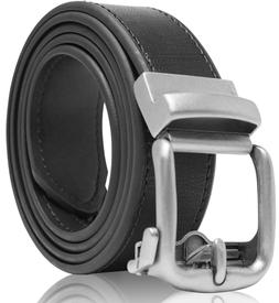 bonded leather mens ratchet belt belts