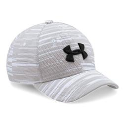 Under Armour Boys' Printed Blitzing Cap, White /Black, Youth