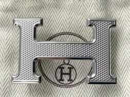 Brand New 100% Authentic Hermes Guilloche H Belt Buckle for