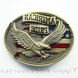 Bronze American Pride Eagle Western Metal Fashion Belt Buckl
