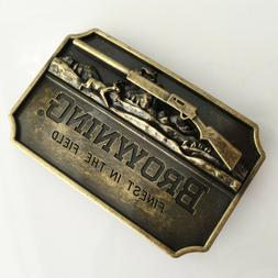 BROWNING Finest in the field Belt Buckle Antique Bronze colo