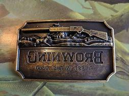 ♈ BROWNING Finest in the field Belt Buckle Antique Bronze