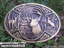 ✖  Buck in woods ✖ Scenic Belt Buckle Buck ✖ Deer Bron