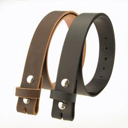 """Buffalo Leather Casual Belt Strap_No Buckle_1-1/2""""_Amish Han"""
