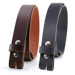 """BUFFALO LEATHER CASUAL BELT STRAP_No Buckle_1-1/2""""_1.5"""" Hand"""