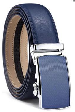 Lavemi Bulliant Mens Real Leather Ratchet Dress Belt Buckle