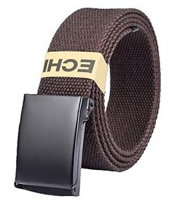 ECHI Canvas Web Belt for Men and Women, Unisex 2 PCS Fabric