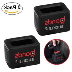 Bands Car Seat Belt Buckle Holder - 2 Pack- Flexible Silicon