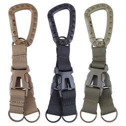 Carabiner Nylon Backpack Belt Buckle Webbing Hook Outdoor Qu