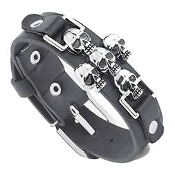 Chariot Trading - Skeleton Skull Punk Gothic Rock Leather Be