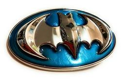 Classic Batman belt buckle full metal Aqua Marine Blue and c