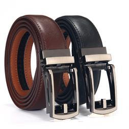 Click Ratchet Belt Dress with Sliding Buckle Adjustable Trim