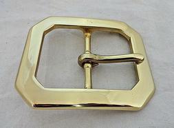 Clip Corner Solid Brass Western Belt Buckle 1 3/4 Inch Utili