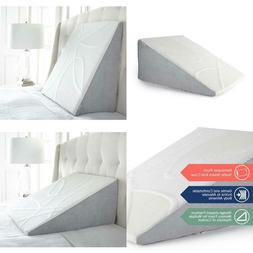 Cloud Plush 7.5 Inch Tall Bed Wedge Pillow Featuring A Cheni