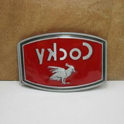 Cocky Fashion Metal Belt Buckle Red Cool