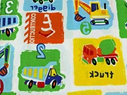 Kids Collection Construction Trucks Colorful Twin Sheet Set
