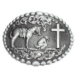Cowboy Jeans Western Horse Cross Belt Buckles Men's Accessor