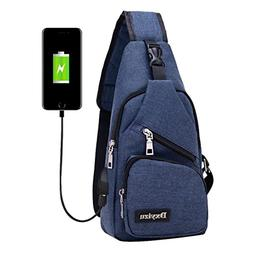Crossbody Bag,Realdo USB Charging Port Outdoor Sports Casual